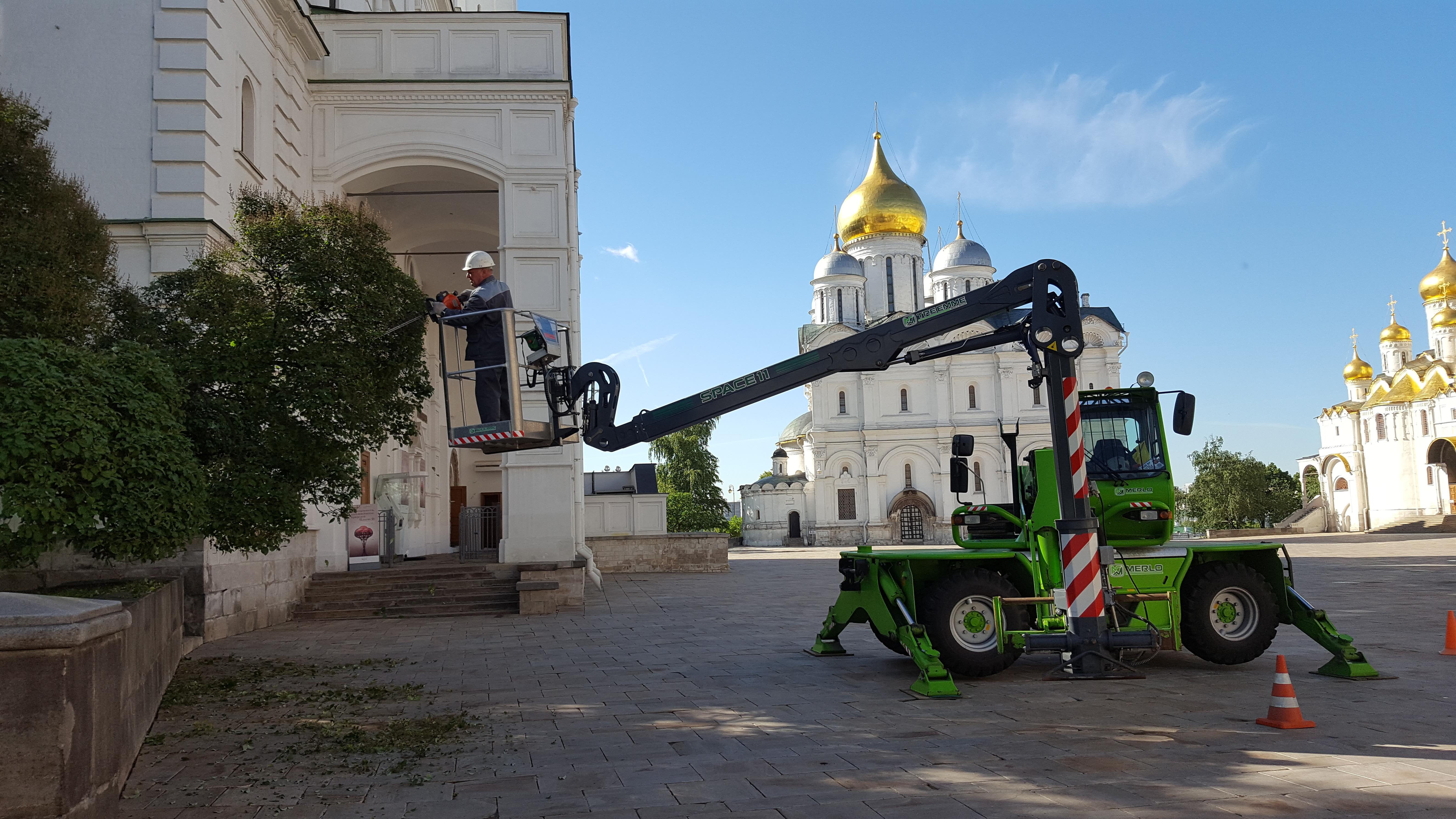 Обслуживание территории Кремля