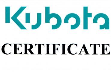 Сертификация по двигателям Kubota V3800 DI, для погрузчиков MERLO.
